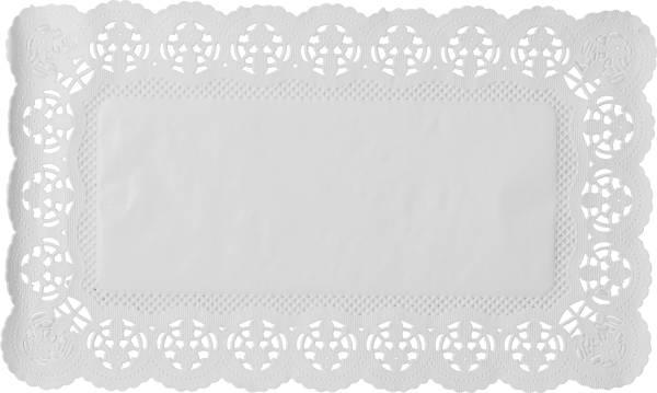 DEMMLER Tortenspitzen eckig 2940100610 30×18cm, 6 Stück weiss