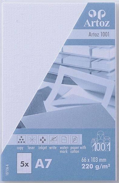 ARTOZ Visitenkarten 1001 A7 107136142 220g, blütenweiss 5 Blatt