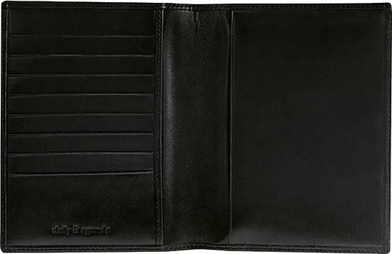 DAILY Lederhülle 113 10,1x14,2cm schwarz