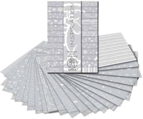 URSUS Transparentpapier A4 51194699 White Line ass. 24 Blatt