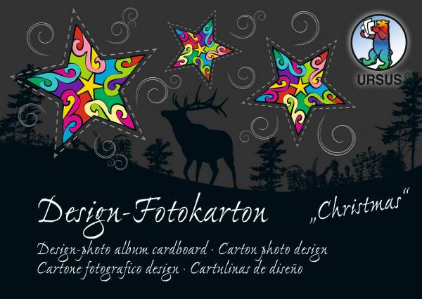 URSUS Fotokarton-Block Christmas A6 11446499SE 300g,60 Motive 60 Blatt
