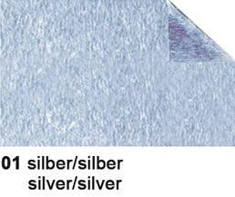 URSUS Bastelfolie Alu 50x80cm 4442101 90g, silber/silber