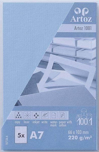 ARTOZ Visitenkarten 1001 A7 107136144 220g, pastellblau 5 Blatt