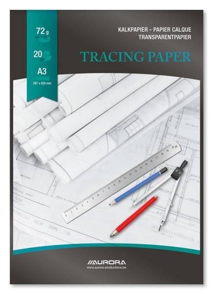 AURORA Transparentpapier A3 CA120 75g 20 Blatt