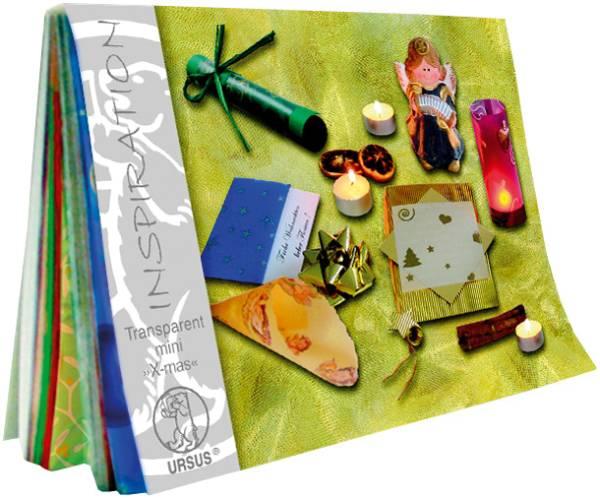 URSUS Transparentpapier A6 51186499 115g, Motive ass. 60 Blatt