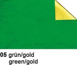 URSUS Bastelfolie Alu 50x80cm 4442105 90g, grün/gold
