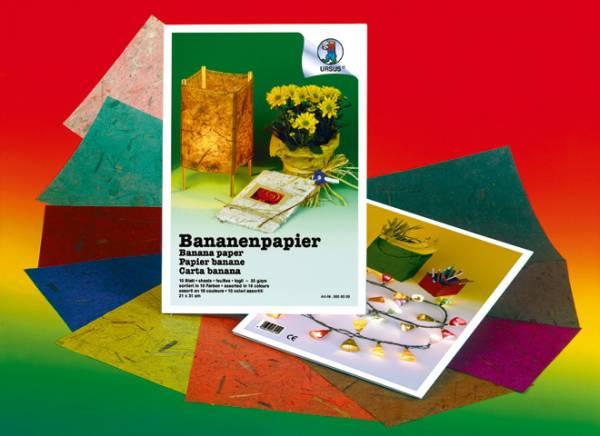 URSUS Bananenpapier 21x31cm 8650099 35g, 10 Farben ass. 10 Blatt
