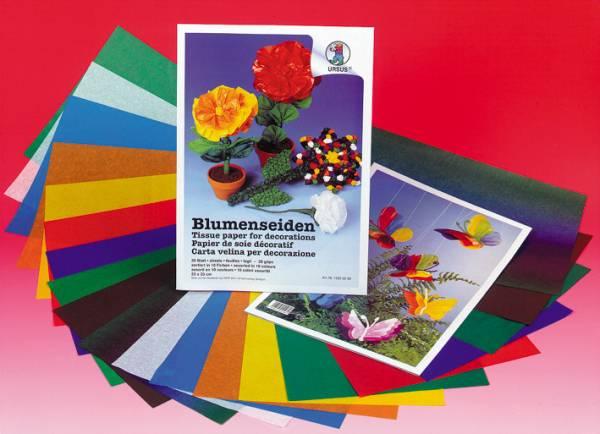 URSUS Seidenpapier 23x33cm 15250099 20g, farbig ass.
