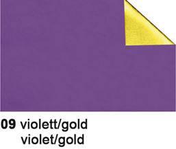 URSUS Bastelfolie Alu 50x80cm 4442109 90g, violett/gold