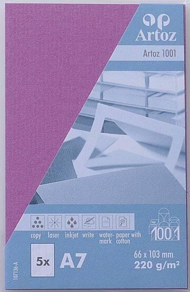 ARTOZ Visitenkarten 1001 A7 107136144 220g, holunder 5 Blatt